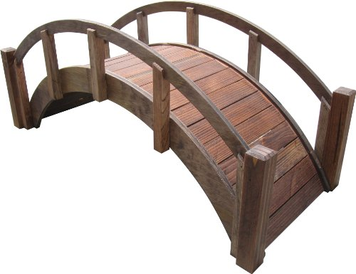 SamsGazebos Miniature Japanese Wood Garden Bridge,Treated, Assembled, 29