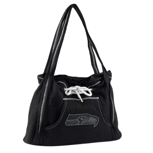 NFL Seattle Seahawks Sport Noir Hoodie Purse, Black at Amazon.com