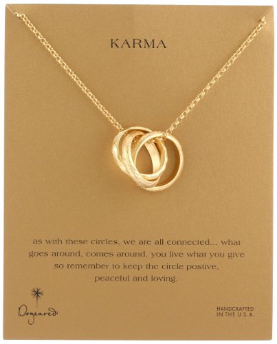 "Dogeared ""Karma"" Large Textured Big SALE"
