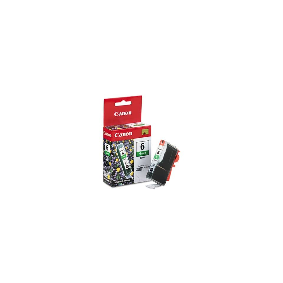 3 Pack BCI6G (BCI 6) Ink Tank, 370 Page Yield, Green by CANON COMPUTER SYSTEMS CCSI (Catalog Category Computer/Supplies & Data Storage / Printer Supplies/Accessories / Ink Jet Supplies/Cartridges)