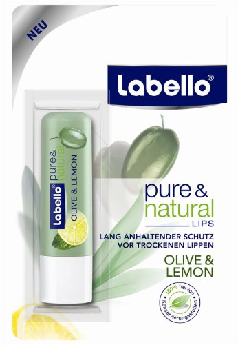 Labello Pure & Natural - Olive & Lemon Lip Balm