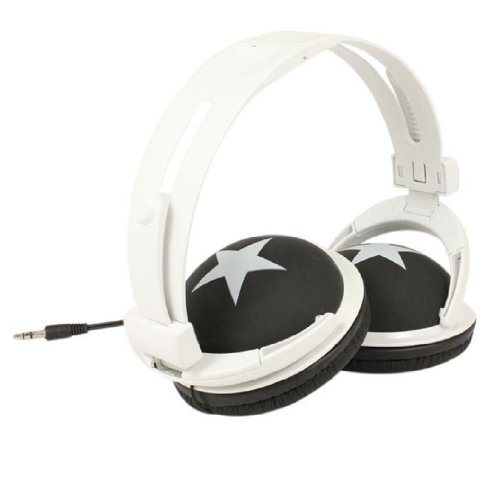 Colorful Fashion Design Stereo Headphones With Star (Black)