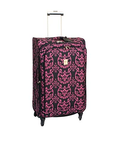 Jenni Chan Damask 360 Quattro 28″ Upright Spinner Luggage, Pink