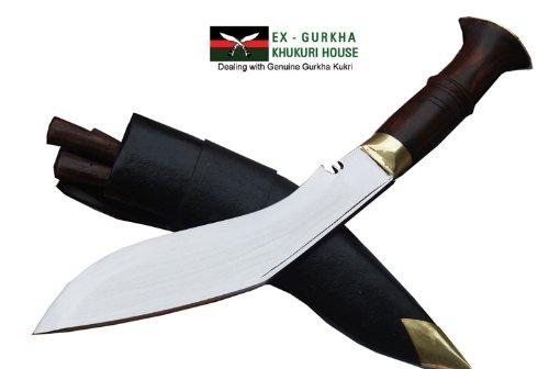 "Genuine Gurkha Official Issue Kukri Knife - 9"" Blade Nepal Police Service Khukuri Or Khukris - Handmade By Ex Gurkha Khukuri House In Nepal"