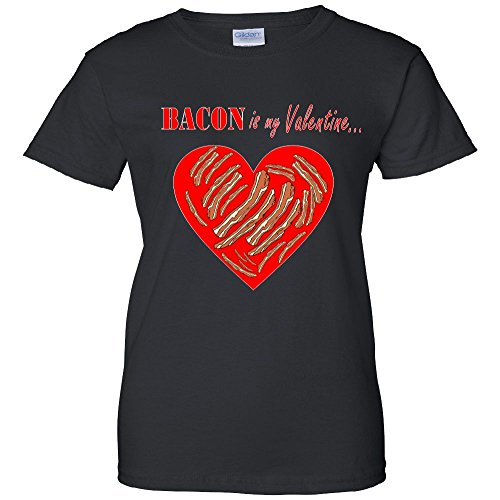 Bacon Is My Valentine Funny V-Day Women's T-Shirt