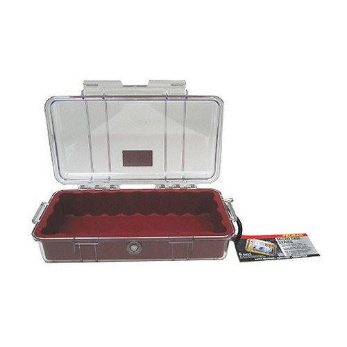 1060 Micro Case, Clear Top Red