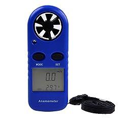 Imported LCD Digital Wind Speed Temperature Measure Gauge Anemometer Meter