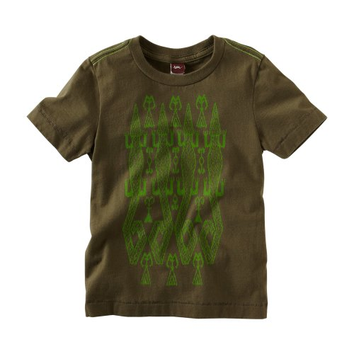 Tea Collection Boys 2-7 Alligator Ikat Tee, Botanical, 5