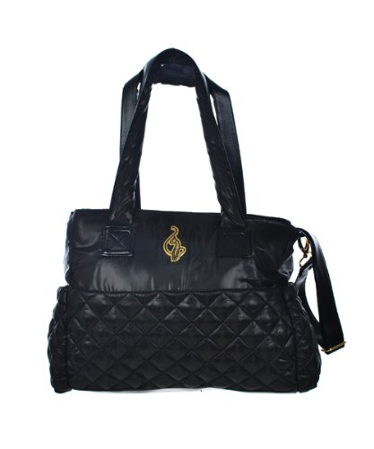 "Baby Phat ""Quilty Clutch"" Diaper Tote Bag - black, one size"