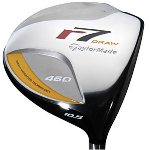 TaylorMade Men's r7 Draw 460 Ti Driver (Right-Handed, 9.0 Degree Loft, RE-AX 55 Graphite Stiff Shaft)