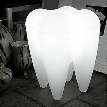 LED Floor Lamp, 1 Light, Modern Tooth Shape White Plastic 110V