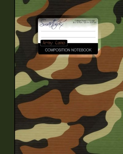 Army Camo Composition Notebook: College Ruled Writer's Notebook for School / Office / Student / Military [ Perfect Bound * Large * Color ] (Composition Books - Contemporary Designs)