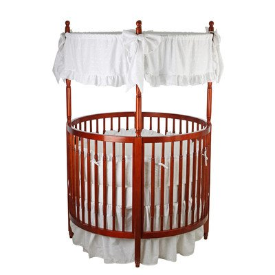 Dream On Me Sophia Posh Circular Crib, Cherry front-1052627