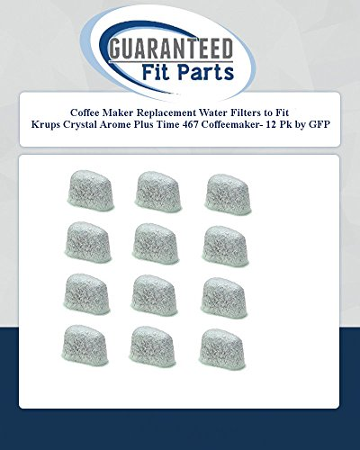 Coffee Maker Replacement Water Filters To Fit Krups Crystal Arome Plus Time 467 Coffeemaker- 12 Pk By Gfp