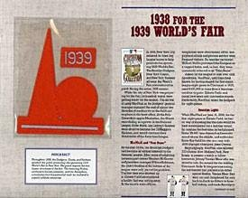 1939 World's Fair Patch on Commemorative Card - MLB Baseball Cards
