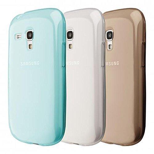 ECENCE Samsung Galaxy S3 mini i8190 3in1 Zubehör Set case schutz hülle handy tasche cover schale schwarz, blau, transparent 14020206