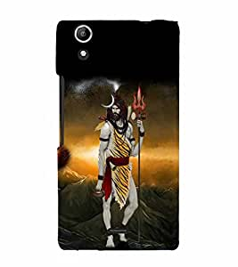 Vizagbeats Lord siva in tiger skin Back Case Cover for Micromax Canvas Q340