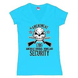 2nd Amendment 1789 Homeland Security Juniors V-Neck T-Shirt