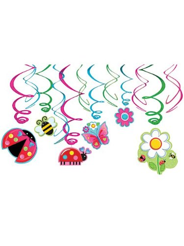 Garden Girl Swirl Decorations