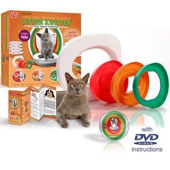 Litter Kwitter (Litter Quitter) Cat Toilet Training System