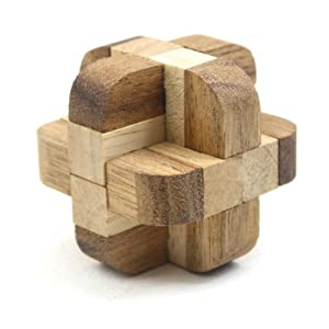 Diamond Cube Tactile Wooden Puzzle