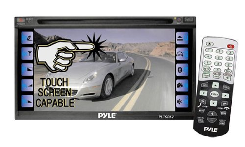 Pyle Pltsd62 6.5-Inch Tft Lcd Double Din Touch Screen Monitor With Dvd/Cd/Mp3/Usb And Am/Fm