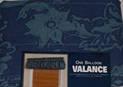 Nandi Blue Floral Balloon Window Valance Curtain Topper