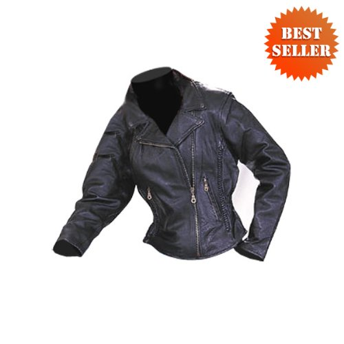 Motorcycle jackets – women's leather motorcycle jacket lj657