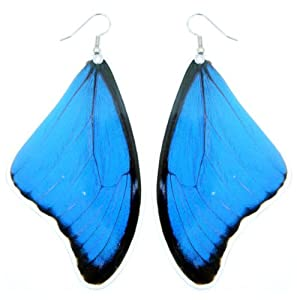 Real Butterfly Wing Earrings - Blue Morpho Butterfly - Butterfly Wing Jewelry