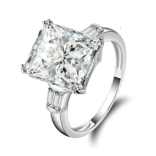Bague Fiancaille Femme Swarovski : Daesar silver plated rings womens engagement custom