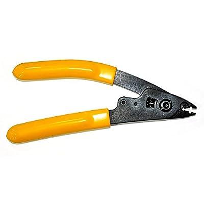 "Generic Dual Hole Fiber Optic Stripper Clauss No.CFS-2 for Wire Stripping 125 Micron Fiber 6.5"" Length"