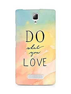 AMEZ do what you love Back Cover For Lenovo A2010