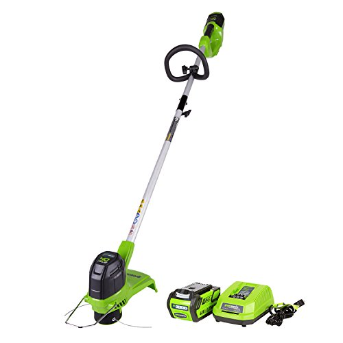 "Buy Discount GreenWorks G-MAX 40V 12"" Front Mount String Trimmer with 2 Ah Battery & Charge..."