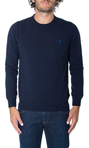 Trussardi Jeans - Maglia Trussardi Jeans Uomo Maglione Col. Blu - 52M130, Taglia - XL
