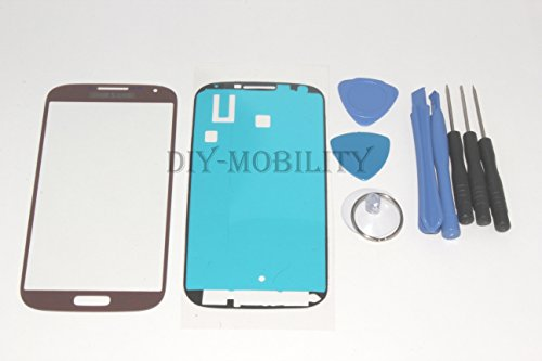 Samsung Galaxy S4 Glass Screen Brown Replacement Kit With Dm Tools, And Instructions Included I9500 I9505 I545 M919 I337 L720 R970 - Diymobility