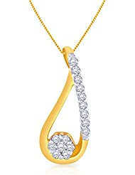 Malabar Gold And Diamonds 18k Yellow Gold And Diamond Pendant