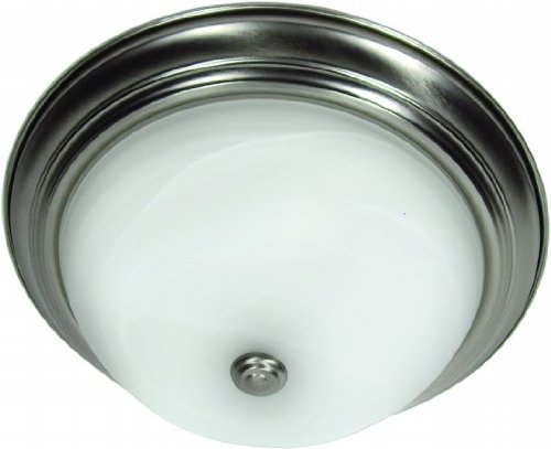 Yosemite 60-450Sn Satin Nickle Builder Traditional / Classic Two Light Down Lighting Flush Mount Cei