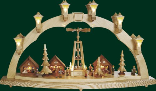 Electric Christmas lights Bow Erzgebirge Seiffen new