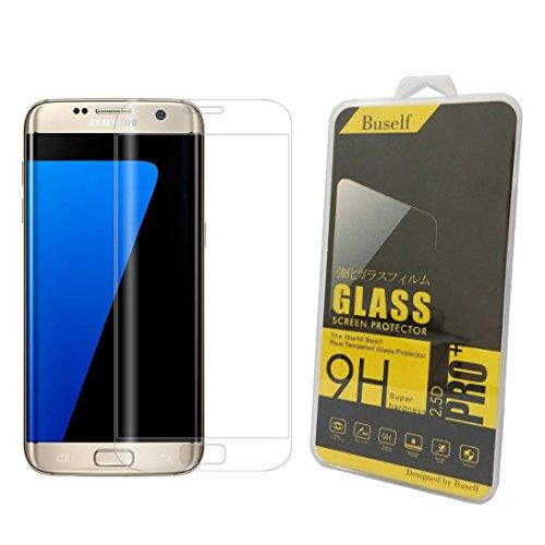 Galaxy S7 edge 強化ガラスフィルム (キャリー 専用ケース ) ,Buself Galaxy S7 Edge 用 強化 ガラスフィルム フルカバー 3D 曲面 5.5インチ 9H 飛散防止 高透過率 撥油性 耐指紋 硝子 au SCV33 docomo SC-02H サムスン ギャラクシー S7 エッジ 液晶保護フィルム(トランスペアレント)