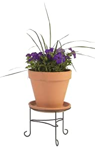 Austram 28062426 10-Inch Antique Green Lotus Plant Stand
