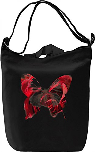 Flower Butterfly Borsa Giornaliera Canvas Canvas Day Bag| 100% Premium Cotton Canvas| DTG Printing|
