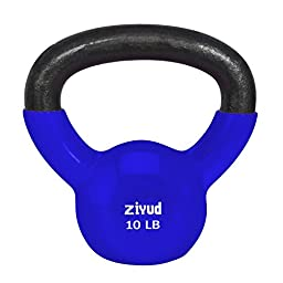 Gymenist Exercise Kettlebell Fitness Workout Body Equipment Choose Your Weight Size (10 LB)