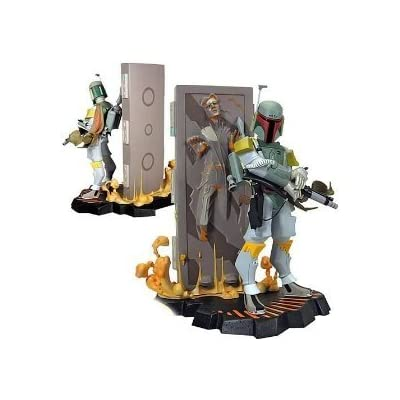 Animated Boba Fett w/ Carbonite Han Solo Maquette