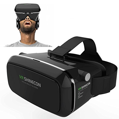 SEGURO 360 degree Viewing Immersive Virtual Reality 3D VR Glasses Google Cardboard 3D Video Games Glasses VR Headset Compatible with 3.5-6.0 inches Android & Apple Smartphones for 3D Movies and Games