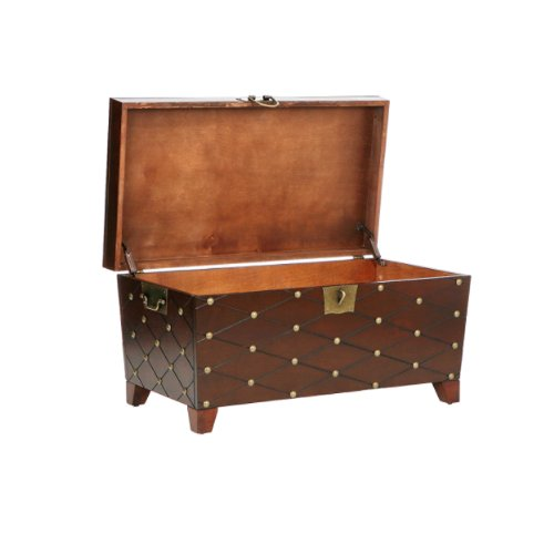 SEI, Espresso Nailhead Cocktail Table Trunk