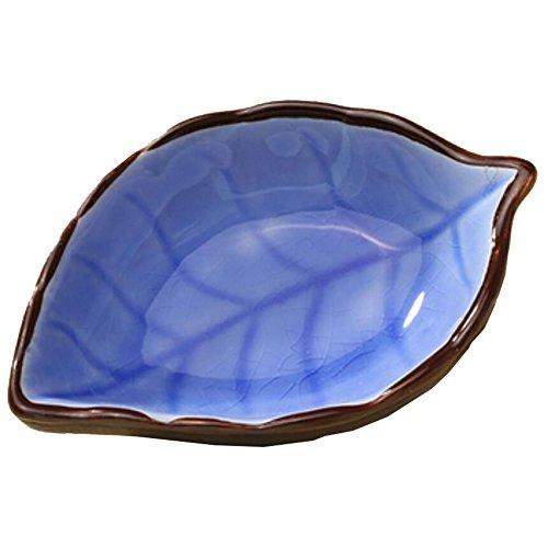 4 PCS Plats Creative Vaisselle polyvalente table Relish feuilles bleues