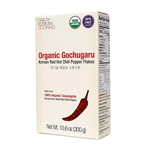 Gochugaru Organic, USDA Certified Organic Red Hot Chili Pepper Flakes, Korean Sun-Dried 10.6 oz (Chili Pepper Organic compare prices)