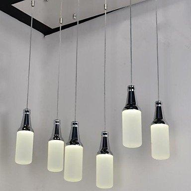 FJL- Pendent Light 6 Lights Novelty Beer Bottle Shape Plastic 90-240V