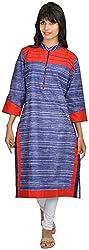 Goodyygoods Women's Denim Regular Fit Kurti (GG 58, Multi, X-Large)