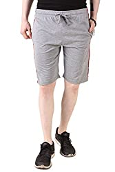 Aventura Outfitters Single Jersey Shorts Grey Melange with Black Stripes & Two Red Piping - XXL (AOSJSH316-XXL)
